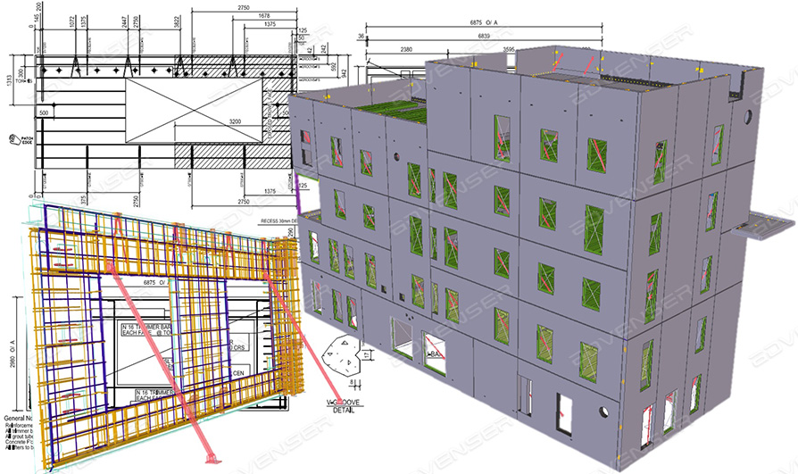 Precast wall panel detailing