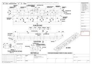 precast panel shop drawing